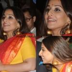Actress Vidhya Balan in huge long Jhumka
