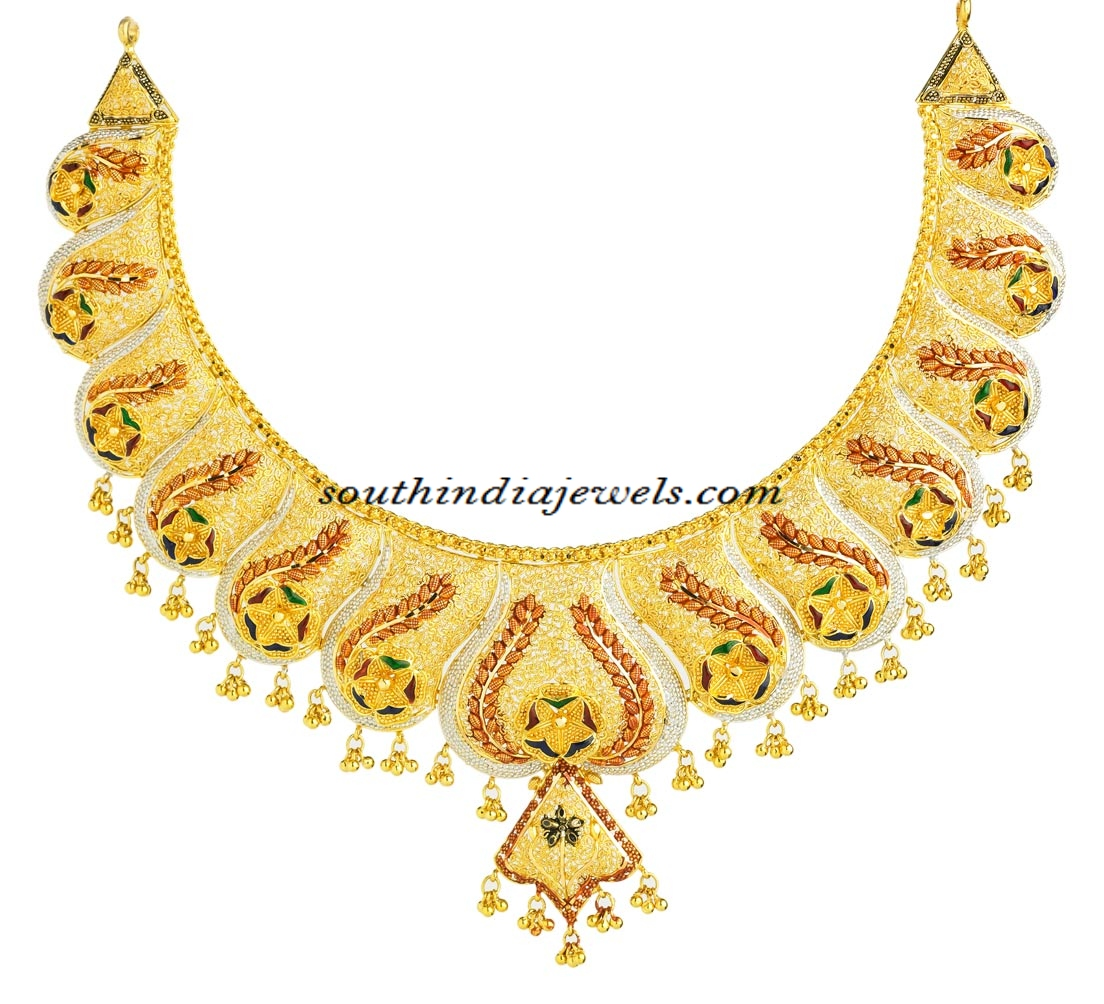 Latest 22k Gold Necklace From Kerala Jewellers