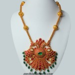 24k gold jewelry : Peacock pendant