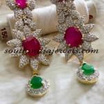 American Diamond Jewellery : Floral Earrings design