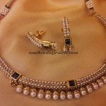 Artificial pearl necklace set