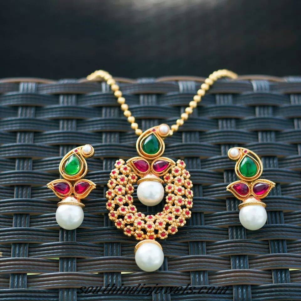 Artificial pendant set with price