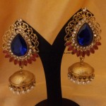 Designer Jewellery : Colorful stone antique jhumkas