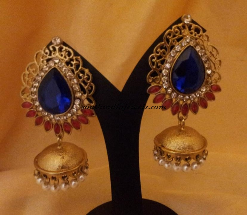 Designer Jewellery Antique Jhumkas