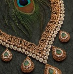Diamond Emerald necklace from Mehta jewellers