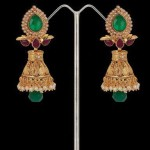Emerald and Pearl studded Jhumka