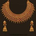 22 Karat Gold choker necklace set with earrings