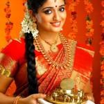 Kavya Madhanvan in bridal jewelleries