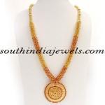 Kerala Jewellers Gold Haram design with price