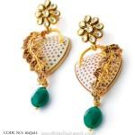 Trendy kundan work earrings