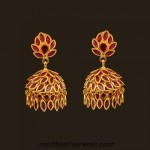 22Carat Gold Ruby jhumka earrings