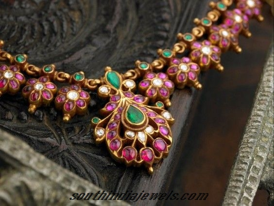 antique ruby necklace from arnav jewellers