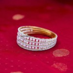Artificial Jewellery : Elegant beaded stone bangles