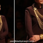 Multilayer designer necklace from Azva Jewellery