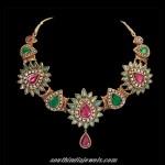 Designer bridal polki necklace