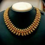 Gold Mango mala necklace