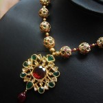 22K Gold Beaded Necklace