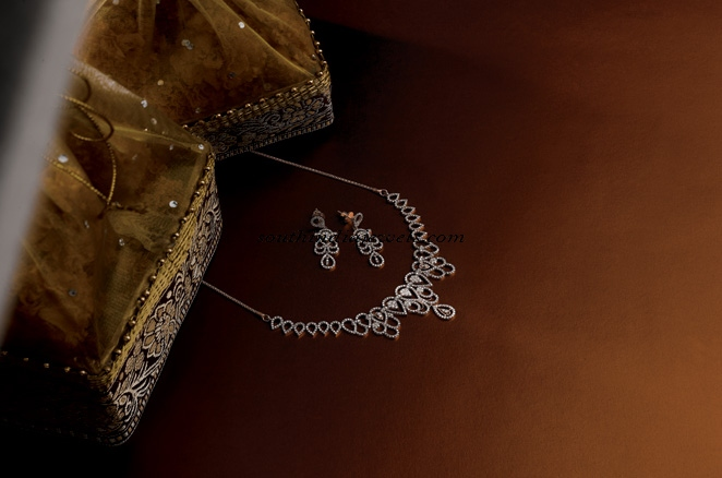 Manubhai Jewellers Diamond necklace