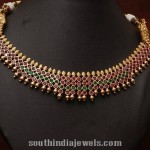 1 Gram Gold Antique Ruby Emerald Necklace