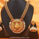 1 Gram Gold Lakshmi Long Necklace with Jhumka