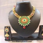 1 Gram Polki Choker Necklace Set