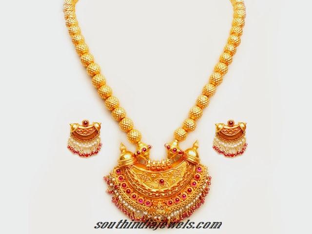 22K Antique Gold Kemp Pendant