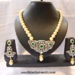 American Diamond Pearl Necklace set