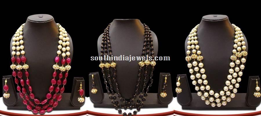 Beaded Kundan imitation necklace sets