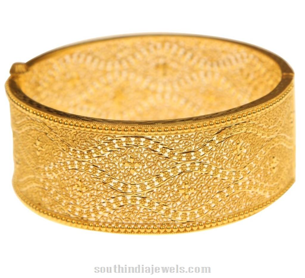 Big Gold Bangles From Kerala Jewellers