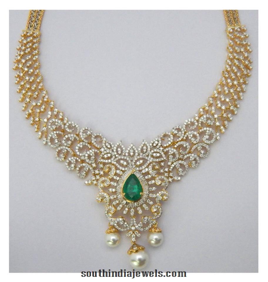 Diamond Emerald Necklace