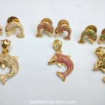 Imitation Fish Pendant and Earrings Set