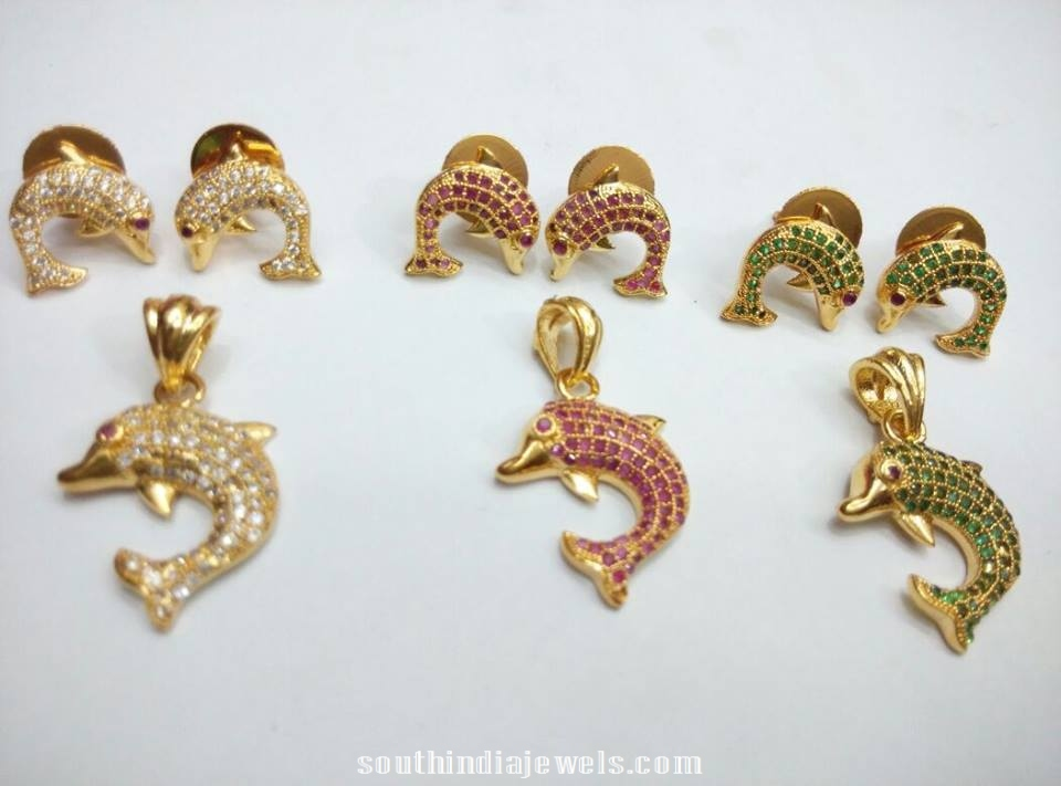 Fish pendant sets with earrings