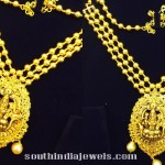 Gold Multilayer Chain with Lakshmi Pendant