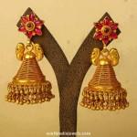 Latest Gold Antique Jhumka Design