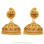 Kerala Style Gold Jhumka
