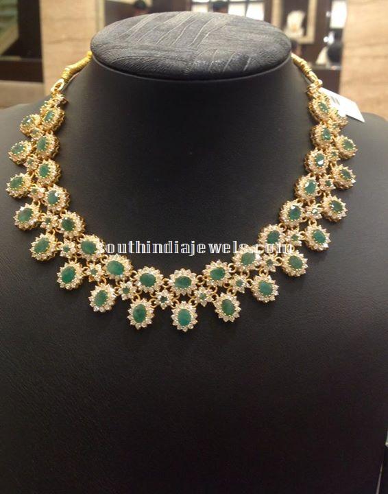 Latest CZ Stone Necklace Designs