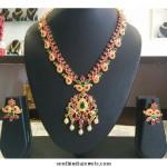 Latest Ruby Imitation Jewellery Necklace Design