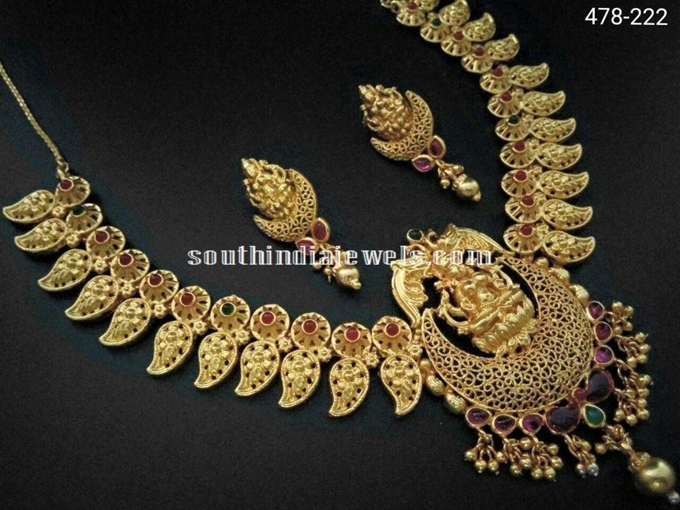 Temple Jewellery Mango Necklace