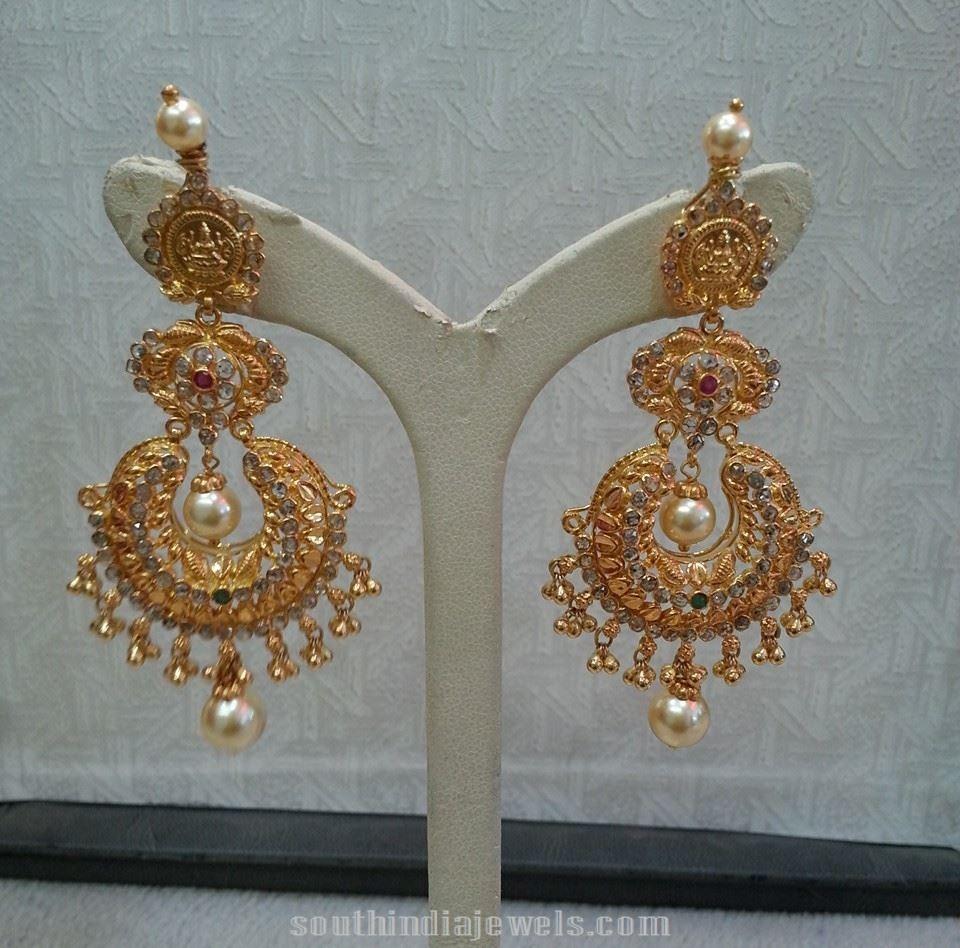 33 Grams Chandbali Earrings from Lalitha Jewellers