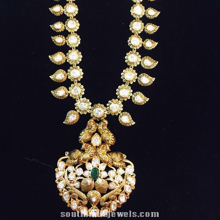 Antique gold necklace latest design 2015