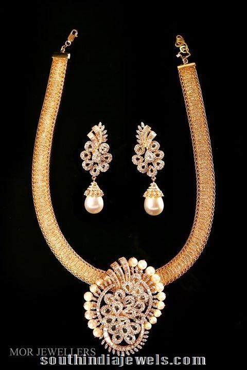 Diamond Attigai stule necklace