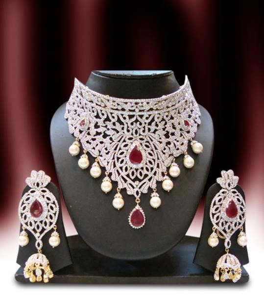 Diamond choker costume jewellery