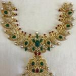 Diamond Emerald Peacock Necklace