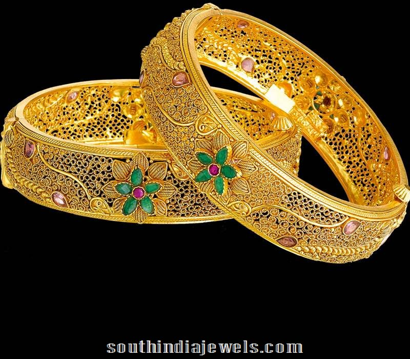22k Gold Bangles From Kalyan Jewellers 2015