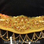 160 Grams Gold Temple Jewellery Vaddanam