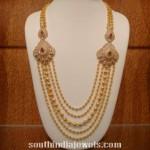 Gold Balls Mala with Side Diamond Mogappu