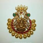 Gold Antique Finish Ganesh Pendant