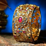 Gold Kundan Bangle