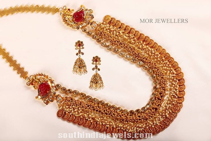 Heavy gold work lakshmi kasumala