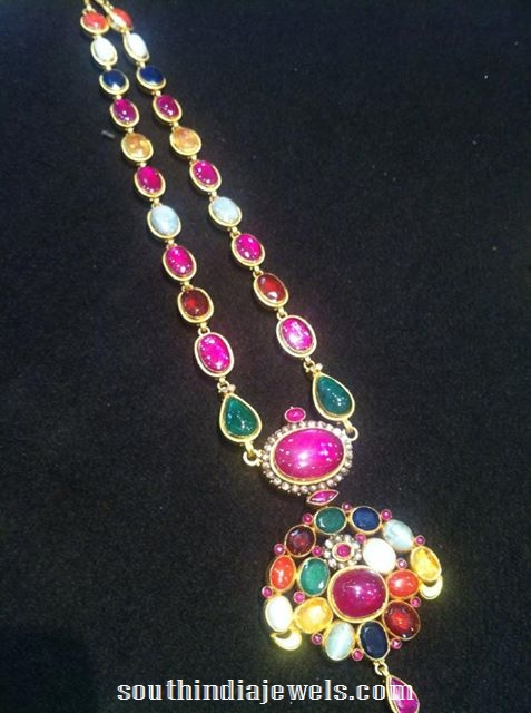 Latest Navarathna Necklace Model